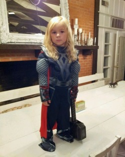 Mini Thor, the god of tiny thunders.