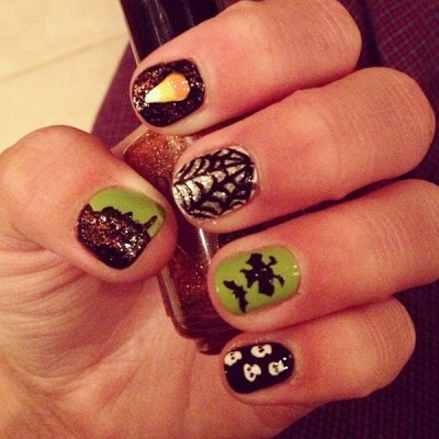 Halloween nails by macayla_thomas. #Sephora #Sephoraween #Halloween  http://bit.ly/Yn3r26