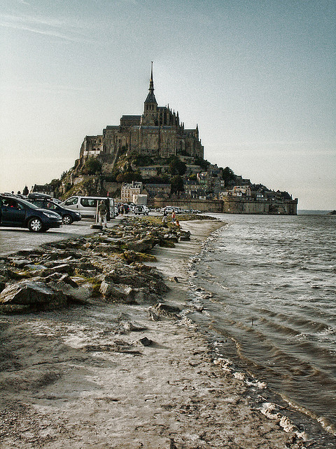 quaesita:  ysvoice:  | ♕ |  {WHS} Mont St-Michel - Normandy  | by © PacoQT  this inspired the Lord of the Rings set design for Minas Tirith