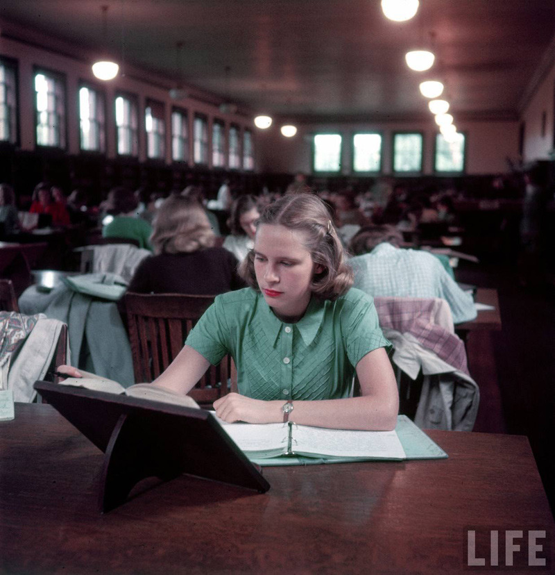 semioticapocalypse:  Peter Stackpole. Smith College, a women's private liberal arts college in Northhampton, MA. 1949 [::SemAp::]
