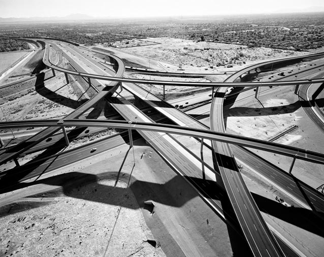 mpdrolet:  Interchange of Highways 60 and 202 looking West, Mesa, Arizona, December, 2007 Michael Light