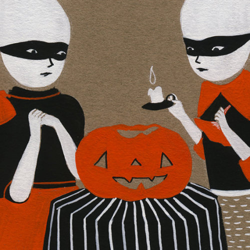 "Detail of ""Ghost Girls October"" by woolandwater"