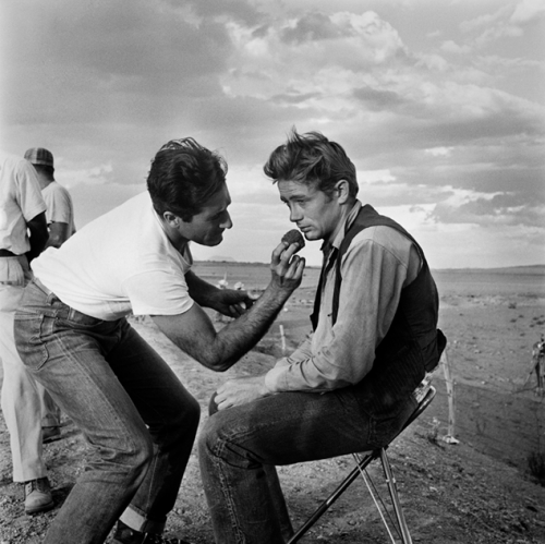 James Dean on the set of Giant, 1955 Richard C. Miller