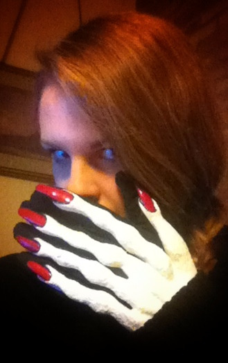 Halloween!!!! My New gloves :D