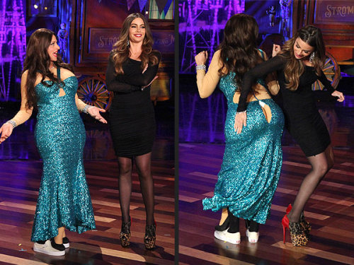 """Your a— looks huge.""  -Sofia Vergara to Ellen Degeneres, when the talk-show host dressed up as the Modern Family star for her Ellen's Halloween episode"