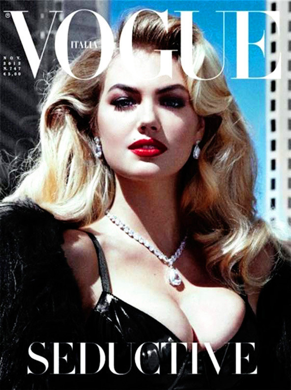 Kate Upton lands her first Vogue cover.