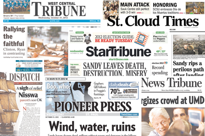 Minnesota newspapers on marriage, voting amendments David Brauer tallied up where Minnesota media stand on the ballot initiatives. With few exceptions, it's a resounding 'No.'