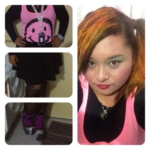 #ootd #halloween was going for Asian Cyndi Lauper, but got mistaken as Madonna. Whatever works since it's the same era!