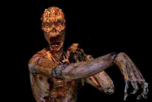The only thing better than a zombie pumpkin is a 6-foot-tall rotting zombie pumpkin