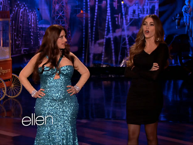 Ellen as Sofra Vergara might be our favorite celeb Halloween costume of the year.
