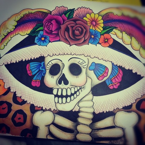 My drawing of La Catrina