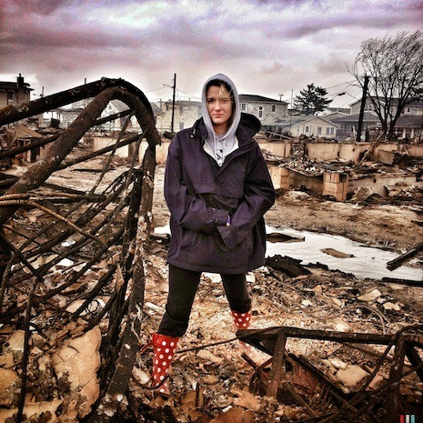 Shannon stands beside what's left of her bed, after fire completely destroyed her home yesterday.  As others took refuge from Sandy indoors, Brooklyn-based photographer Radcliffe Roye took to the streets—and beaches—of New York City. Follow @newyorkermag on Instagram to see how New Yorkers weathered the storm on Monday, and click-through for a selection of his images: http://nyr.kr/ShAPDO