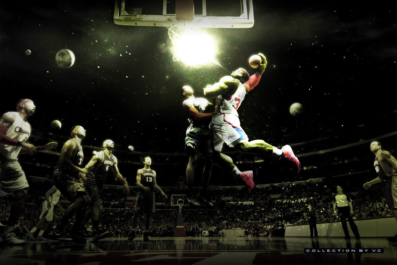 Photo: Blake Griffin dunking on the world.Source: CollectionbyVC