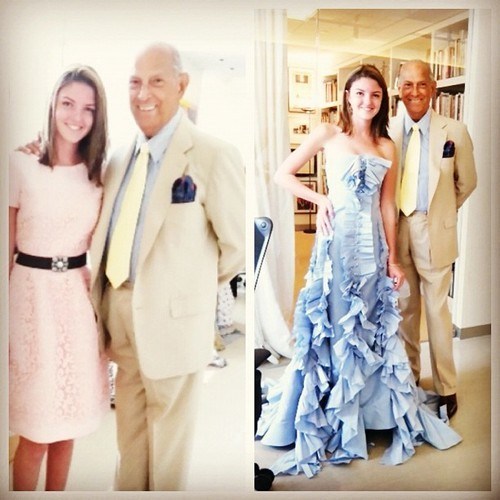 richkidsofinstagram:  Oscar de la Renta I love you lots sir! Thank you for everything! by allieromney #romney #couture  Well this is what i call perfect timing..well done #RKOI