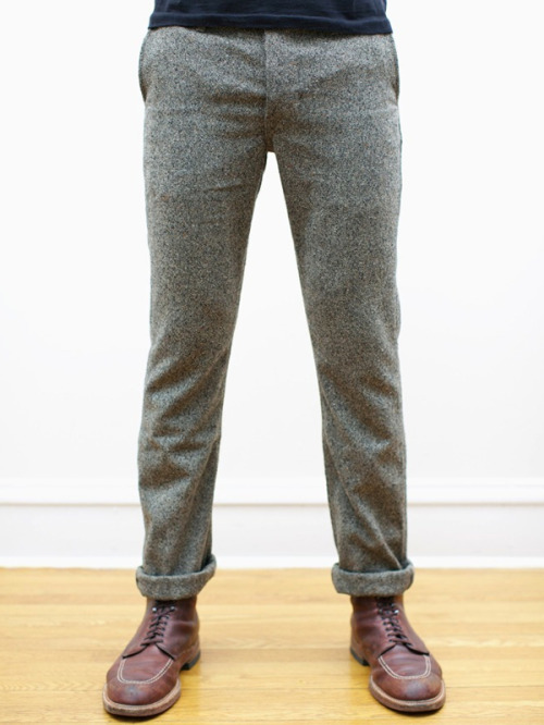 free-man:  Loving these Japanese Tweed Tailored Chinos from Left Field NYC