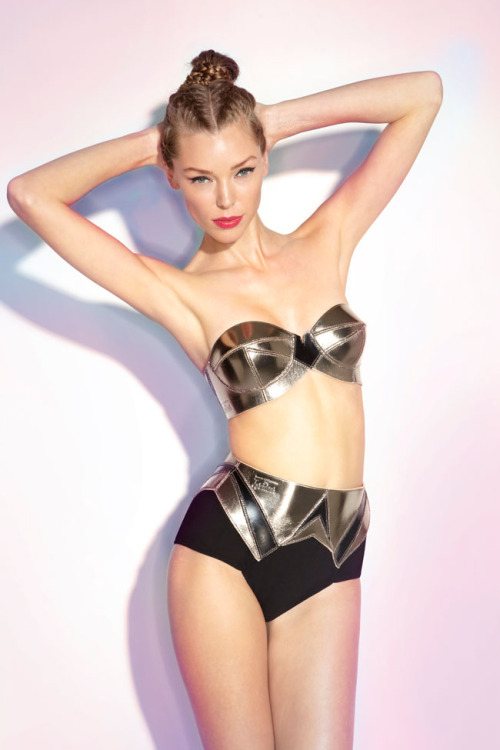 froufroufashionista:  Lascivious lingerie - SS2013 - metallic / leather