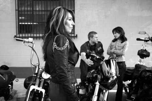 On tap for today: Katey Sagal, who plays the fierce matriarch in the biker gang on Sons of Anarchy, the FX series created by her husband Kurt Sutter.