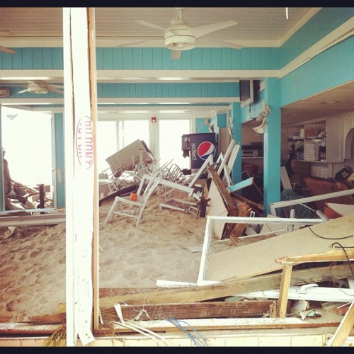 Destroyed restaurant in Point Pleasant Beach, NJ #Sandy