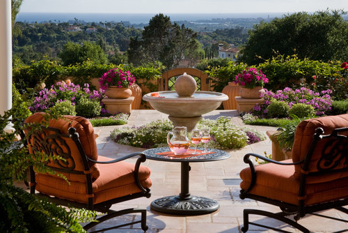 georgianadesign: Lush terrace in Santa Barbara, CA. Grace Design Associates.