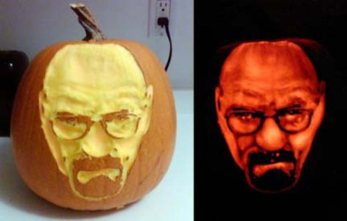 Amazing Walter White Pumpkin This pumpkin ain't no bitch.