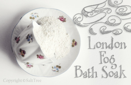 diychristmascrafts:  DIY Cheap and Easy Earl Grey Tea London Fog Bath Soak Recipe from Salt Tree here. This could be made up in large batches and packaged in a thrifted teacups with the ingredients listed on a tag.