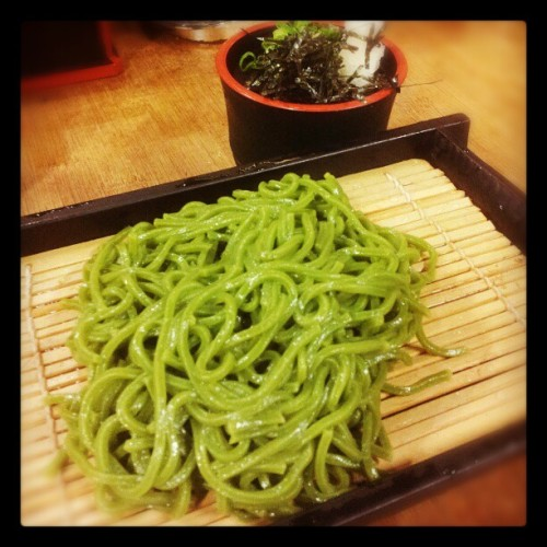 #Green #tea #cha #soba at #SushiZen in #TheGardensMall #kualalumpur #malaysia #foodtography #green #noodles #japanese #android #samsunggalaxysii