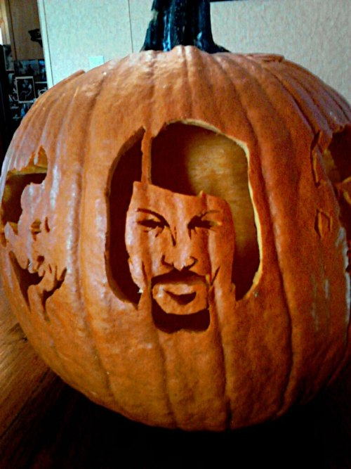 Awesome Waylon Jennings Pumpkin