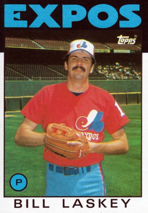 Random Baseball Card #2057: Bill Laskey, pitcher, Montreal Expos, 1986, Topps.