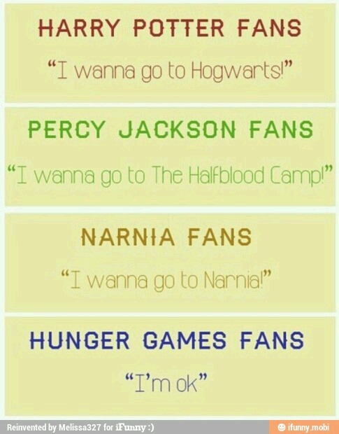 A simple truth regarding the Hunger Games fandom. Haha.