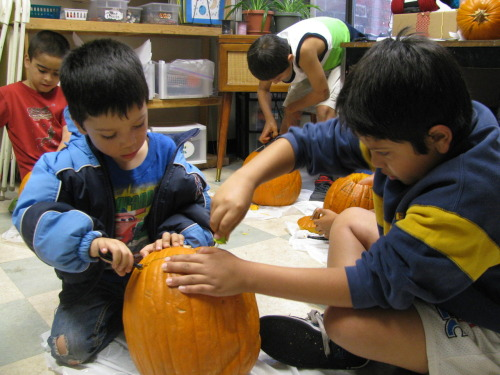 Meeting at a BHP Community Center, kids prepared for Halloween by carving pumpkins after school. You would never know it, but some were carving for their first time! Thanks to Boulder County's Youth Services Initiative (YSI) for organizing this very fun and festive event. October 31, 2012