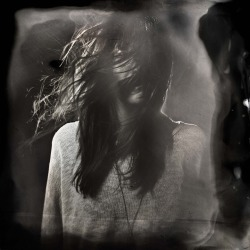 Ian Ruhter/ Wet Plate Collodion/Holga Camera / Christina /Lake Tahoe Ca, 10.31.2012