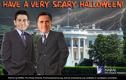 Mitt Romney in the White House is the scariest thing we could think of. Next week, let's make sure this nightmare doesn't come true. Have a safe and happy Halloween!