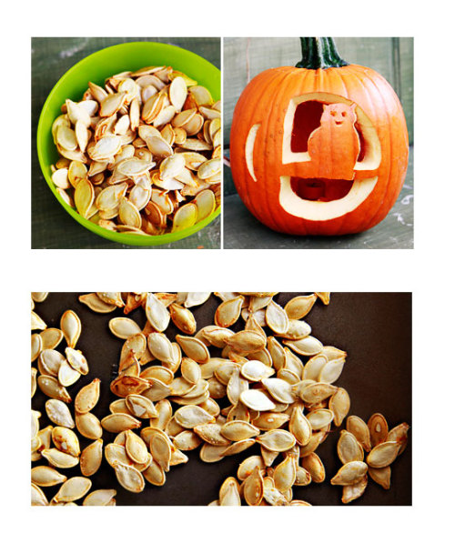pbs-food:  Roasted Pumpkin Seeds | Kitchen Explorers | PBS Parents  I want pumpkin seeds