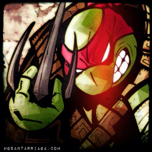 Almost done Raph #tmnt #ninja #raphael #teenagemutantninjaturtles #turtlepower #sketch #dibujo #draw #drawing #illustration #illustrator #ilustración #hgsantarriaga  #art #artwork #ink #inking #artprocess #wip #process #cowabunga #sketchmatch