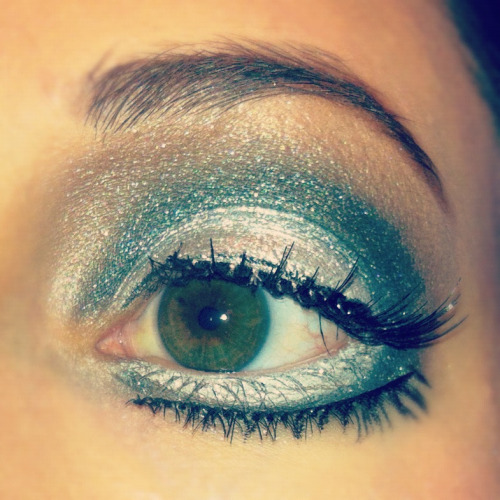 Close up of my eye makeup!