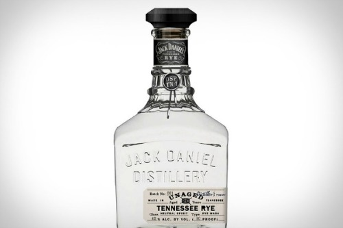 "The 'White Whiskey' By Jack Daniels: The company's Unaged Rye Whiskey — described as having ""a sweet and fruity smell, plenty of rye bite, and a crisp, dry finish"" — will be available in Tennessee in December.  [foodbeast]"