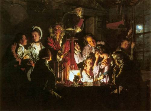 Joseph Wright of Derby, An Experiment on a Bird in the Air Pump (1768) More in Air's Appearance: Literary Atmosphere in British Fiction, 1660-1794 by Jayne Elizabeth Lewis