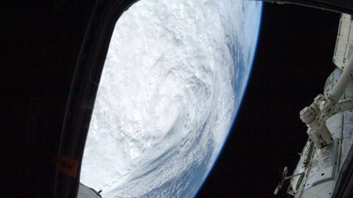 Hurricane Sandy as seen from the ISS |