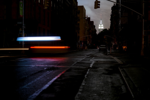 naveen:  last night, mott street in the darkness
