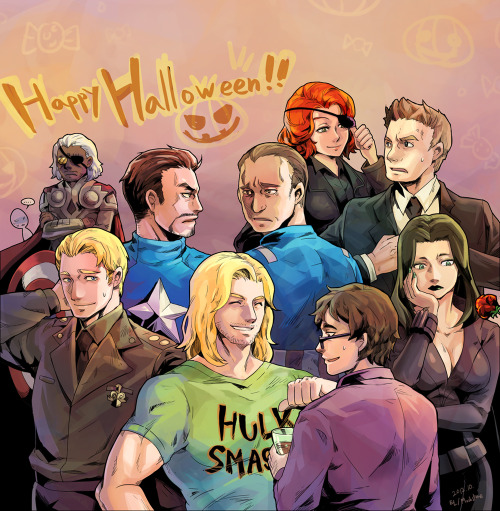 juststark:  The Avengers Halloween Party — by mushshtone@deviantart