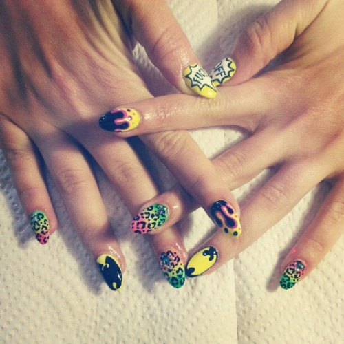 fleuryrosenails:  Wu-wear! #nailsdid #nails #nailart #wutang    IT'S WU BABY!!!!