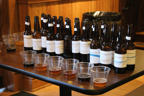 This past Saturday, the entries (126) for this year's homebrew competition were judged. Everyone was impressed with the caliber of this year's entries, noting lots of hops and experimentation, not to mention quite a few beers made with wild yeast and bacteria. The winner will be announced this Sunday at 3 p.m. during All Stouts Day at the Eccentric Cafe.