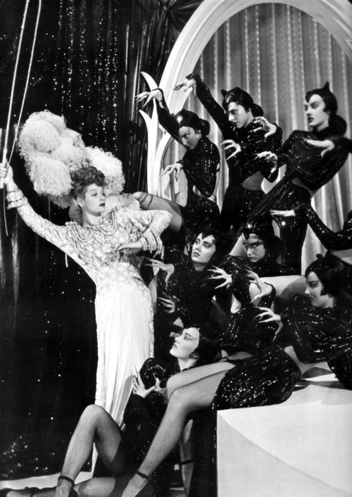 The lovely Lucille Ball surrounded by a troupe of black cats! via Dr. Macro's