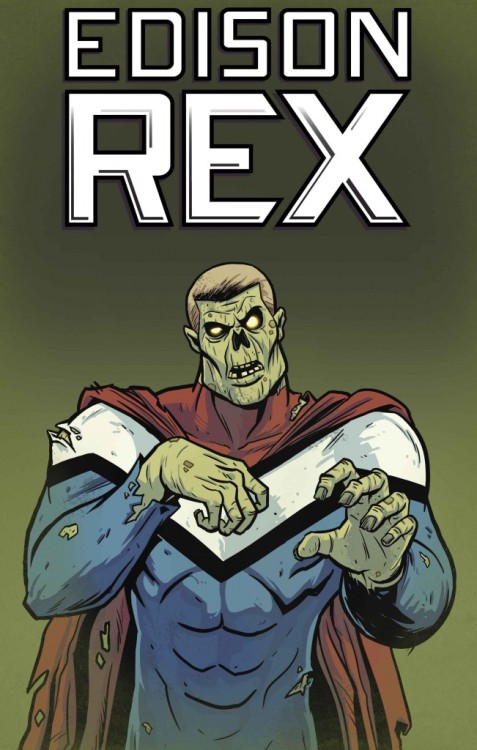 Happy Halloween! Edison Rex #4 is now on sale! Have Edison Rex's sins come back to haunt him? The specter of his defeated foe has been plaguing Edison's restless dreams for some time. But are the visitations now carrying over into his waking life? Written by Chris Roberson Drawn by Dennis Culver Colored by Stephen Downer Lettered by John J. Hill Design by Dylan Todd Edited by Allison Baker Buy it now!
