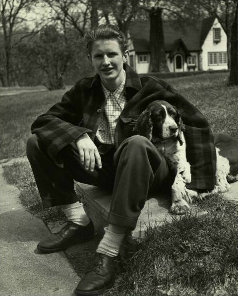 A boy and his Dog, 1945 Life