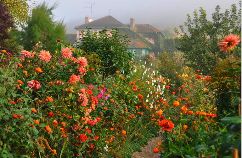 October in Monet's garden at Giverny, France.