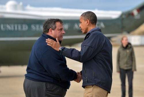Chris Christie and President Obama toured the destroyed regions of New Jersey today.