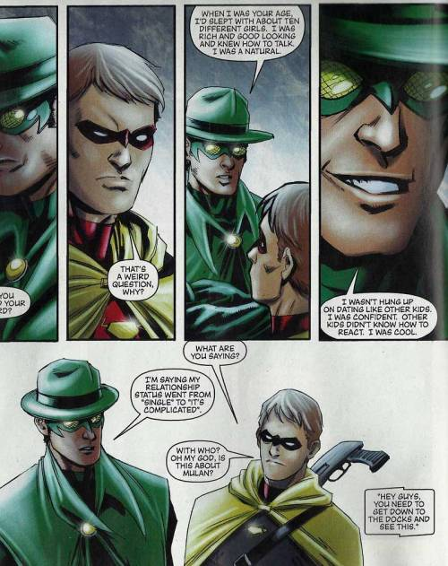 Crop from Dynamite's The Green Hornet #30.