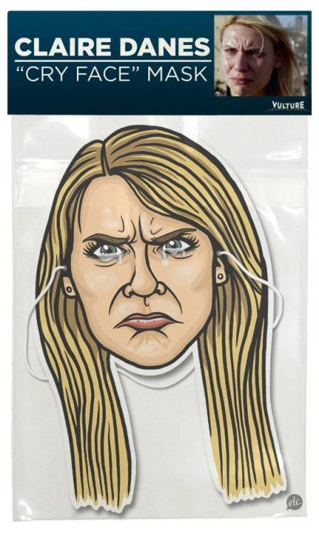 huffposttv:  Be Claire Danes' crying face for Halloween via Vulture.