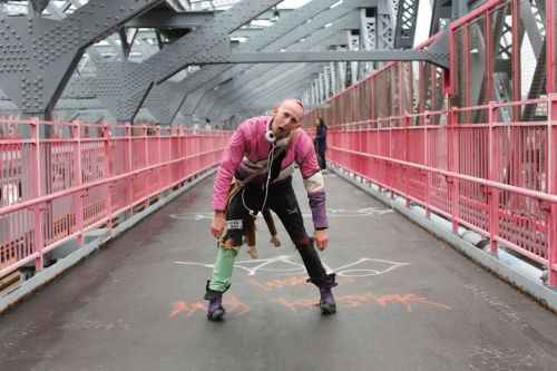 "humansofnewyork:  Met this man while crossing over the Williamsburg Bridge yesterday. He introduced himself as Circus, The Travelling Magician. He then handed me a Book of Spells. Allow me to share some of the highlights: The Spell to Make Strangers Wish You ""Happy Birthday:""Make a sign that says ""It's My Birthday,"" and hang it around your neck. The Cuddle Inducing Spell:Simply hang up a sign that says ""Cuddle Zone."" Put a few soft pillows and blankets under it. Spell to Make Objects Move Through The Air:Make sure there is a nice person in close proximity both to you and the object you desire. Then simply stretch your arm out toward the object and, in less than a minute, it will float magically into your hand."